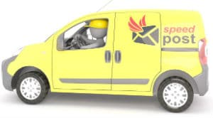 Delivery service van to mail the K-1 Fiance(e) Visa USCIS Phase package