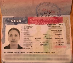 U.S. CR-1 Visa