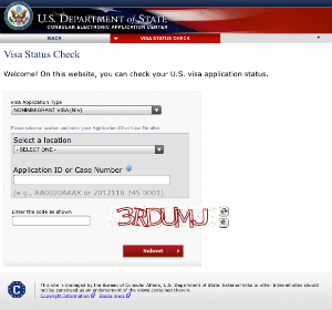 Department of State CEAS Web Site. Use this to check your K-1 Fiance Visa NVC Phase status.