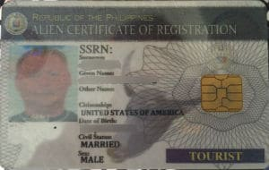 An ACR card is one of the Philippine Visa requirements for direct consular filing DCF Philippines