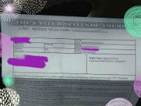 I-797 NOA2 for I-129F USCIS Fiance Visa approval submitted for Adjustment of Status