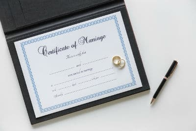 Certificate of marriage requirement for I-485 Adjustment of Status.