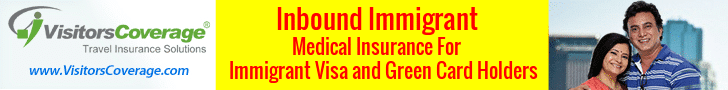 Inbound Immigrant health insurance for immigrant visa and green card holders