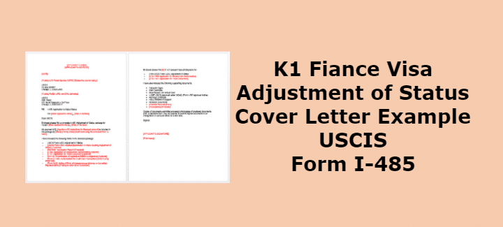 form i 485 k1  K11 Adjustment of Status Cover Letter Example USCIS Form I ...