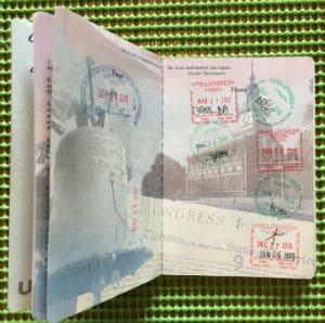 passport stamps help prove in-person meeting